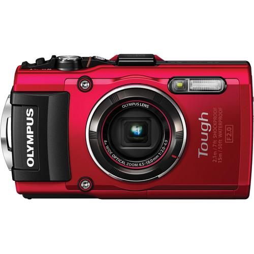 NEW Olympus TG-4 16 MP Waterproof Compact Digital Camera – RED V104160RU000