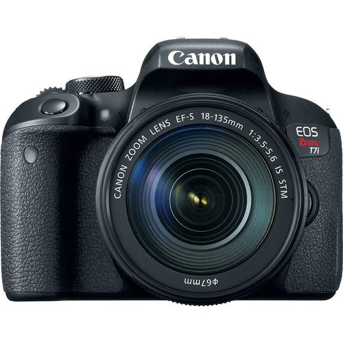 Canon EOS Rebel T7i with 18-135mm Lens