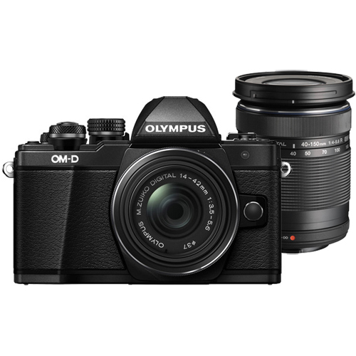Olympus OM-D E-M10 Mark II Camera with 14-42mm and 40-150mm Lenses (Black)
