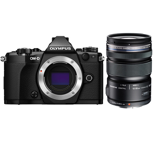 Olympus OM-D E-M5 Mark II Mirrorless Digital Camera with m12-50mm Lens Kit Black