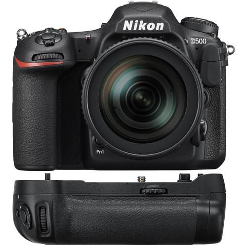 Nikon D500 DSLR Camera with 16-80mm Lens + Nikon MB-D17 Multi Power Battery Pack
