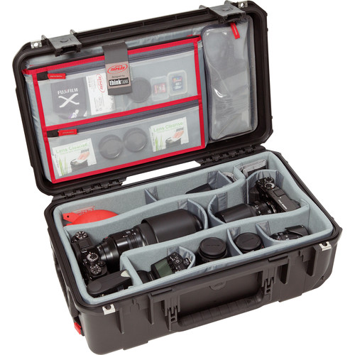 SKB iSeries 3i-2011-7 Rolling Case w/Think Tank Designed Photo Dividers & Lid Foam (Black)