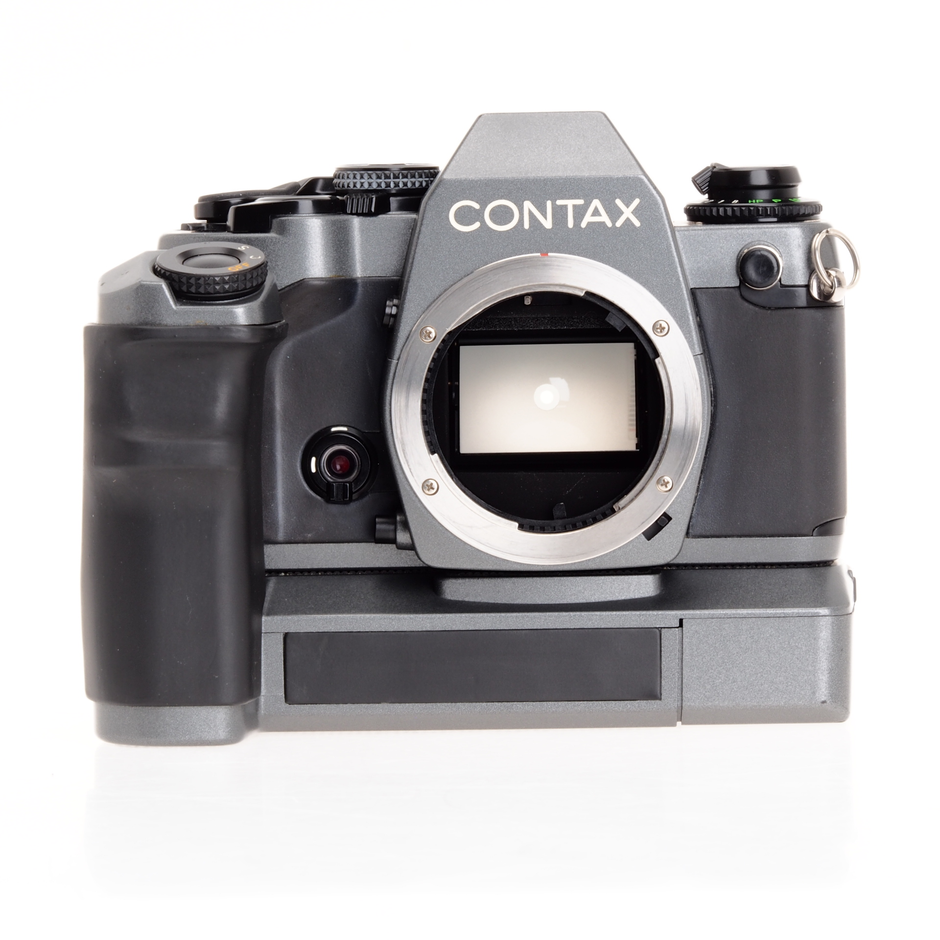 Used Cameras Film Slrs National Camera Exchange Working Of Digital Contax 159mm 10th Anniversary Edition Titanium 35mm Slr W W7 Winder Condition Vg Only Not