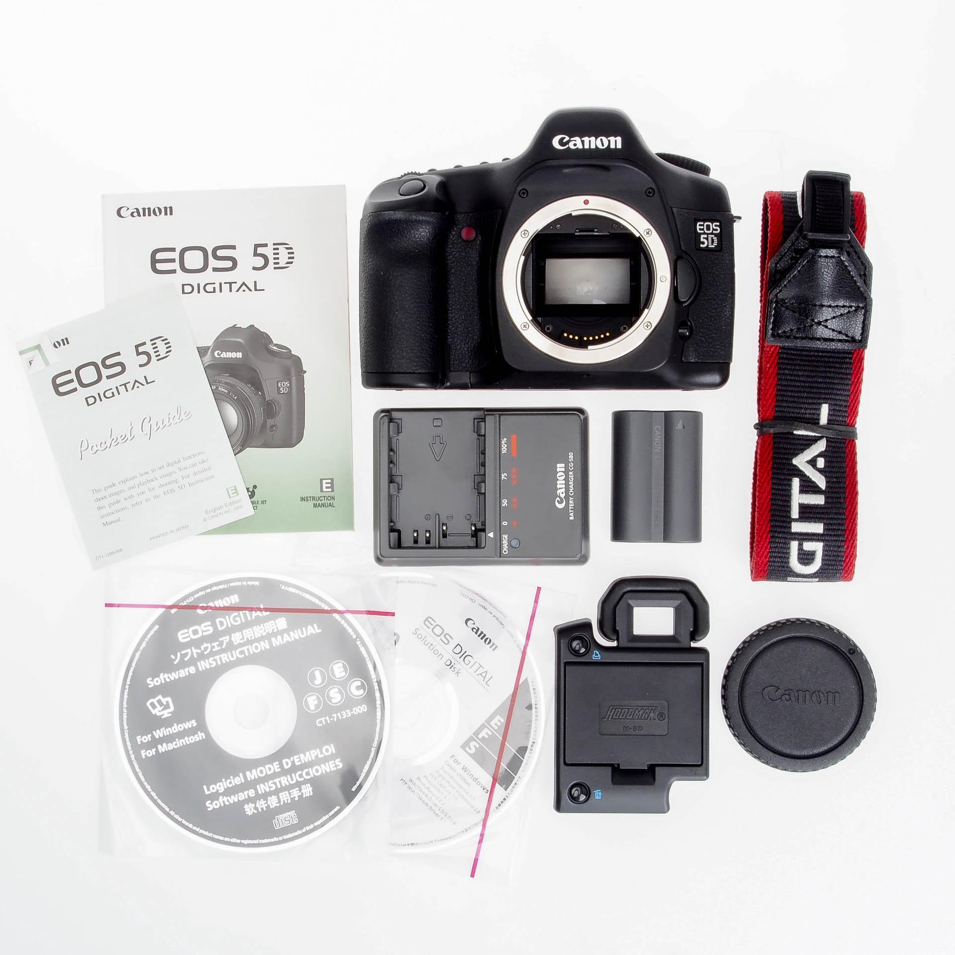 Buy Canon EOS 5D 12.8MP Full Frame Digital SLR Camera Body 0296B002 ...